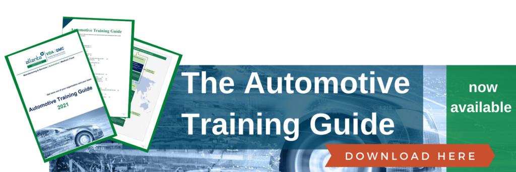 The Automotive Training Guide is nu beschikbaar